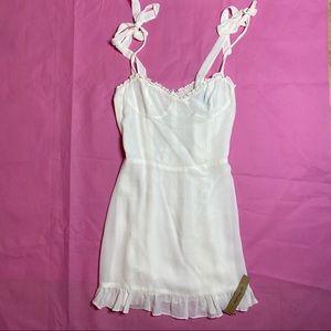 REFORMATION Christine mini dress white